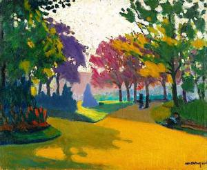 Albert Marquet - Jardin du Luxembourg, 1898. Oil on canvas, 15 x 17 3_4 in. (38 x 45 cm). @ Sotheby's Images, London_n